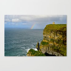Cliffs of Moher Rainbow Canvas Print