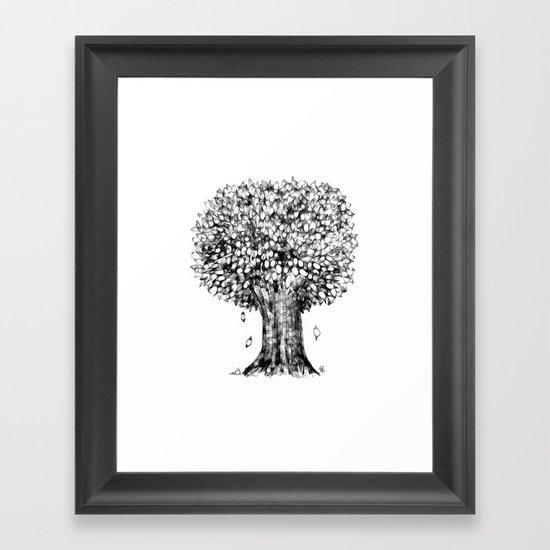 One Tree Framed Art Print