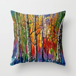 Enchanted Universe Modern Art Throw Pillow
