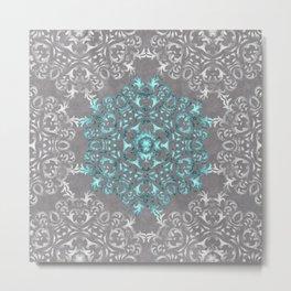 Mandala Pattern with Glitters Metal Print