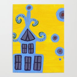 blue house Poster
