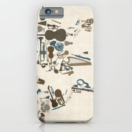 Musical Instruments Map of the World iPhone Case
