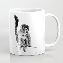 Squirrel monkey - ink illustration Coffee Mug