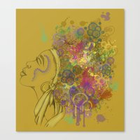 afro Canvas Prints featuring Afro by KiraTheArtist
