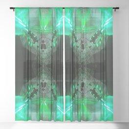 iDeal - X Green Sheer Curtain