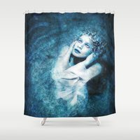 silent Shower Curtains featuring Silent Stars by Spoken in Red