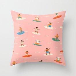 Surf kids Throw Pillow