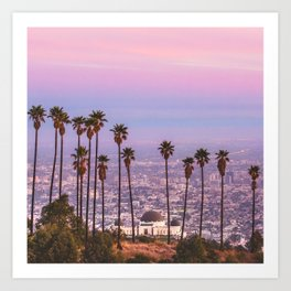 LA dreaming Art Print