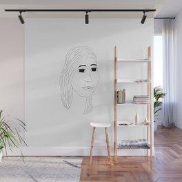 Girl Line Art Wall Mural