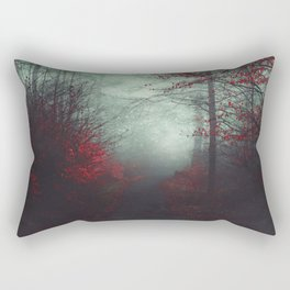 wounded woodland - misty fall forest Rectangular Pillow