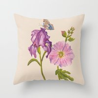 botanical Throw Pillows featuring Botanical by Catherine Holcombe