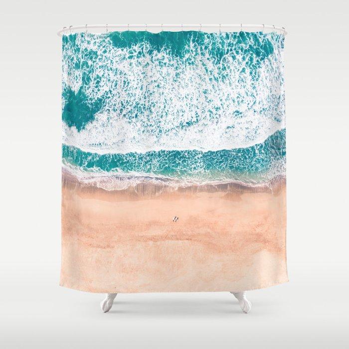 Faded Ocean Life Shower Curtain