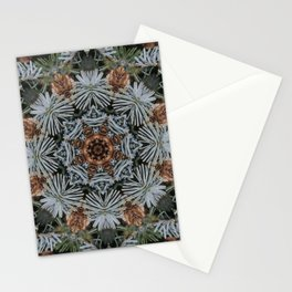 Spruce Cones And Needles Kaleidoscope K4 Stationery Cards