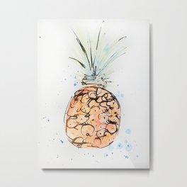 Tropical Pineapple Metal Print