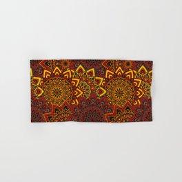 Red & Yellow Boho Mandela Pattern Hand & Bath Towel