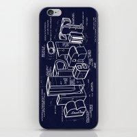 blueprint iPhone & iPod Skins featuring Blueprint by Matthew McKenna
