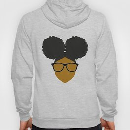 Afro Puff Nerdy Black Girl Hoody
