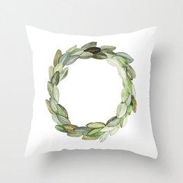 Magnolia Wreath Throw Pillow