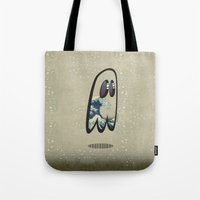 hokusai Tote Bags featuring Hokusai Phantom by Cozmicflight