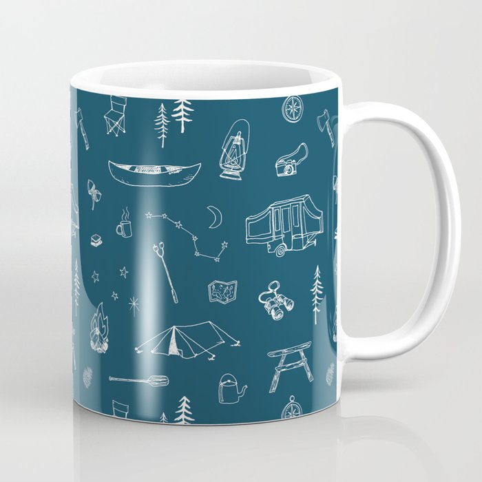 Simple Camping blue Kaffeebecher