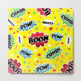 BOOM! POW! CRASH! Metal Print