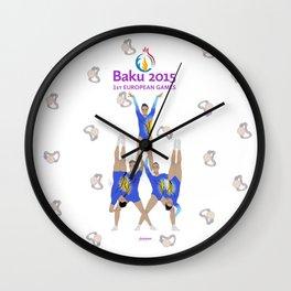 Baku2015 Wall Clock