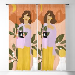 Shopping with Cat Blackout Curtain