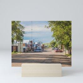 Main Street, Turtle Lake, North Dakota Mini Art Print