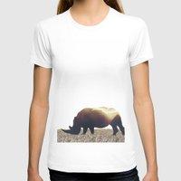 rhino T-shirts featuring Rhino by Yaroslav Greb