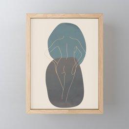 Line Female Figure 80 Framed Mini Art Print