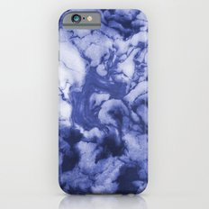 Asahi - spilled ink indigo blue water waves ocean topography map maps painting marble swirl blue iPhone 6s Slim Case