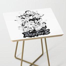 1995-2019 Raptors Side Table