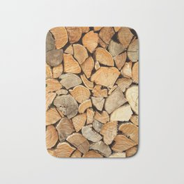 natural wood Bath Mat