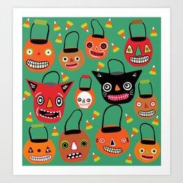Trick Or Treat Too Halloween Art Print