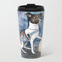 Our hero, Laika Metal Travel Mug