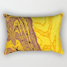 from yellow dunes to ugly shore Rectangular Pillow
