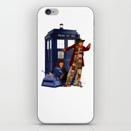 4th Doctor, Sarah Jane, K-9 and the TARDIS iPhone Skin