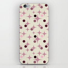 Retro Pattern Rose iPhone Skin