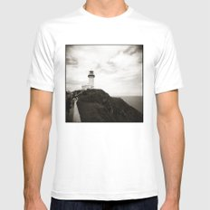 { light house } Mens Fitted Tee MEDIUM White