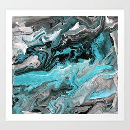 Turquoise Marble Art Print