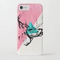 techno iPhone & iPod Cases featuring Techno Deer by Zeke Tucker