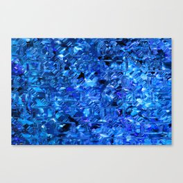Ice Crystals Abstract Canvas Print