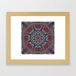 Grey Glow Mandala Framed Art Print