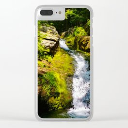 Verdant Waterfall Clear iPhone Case