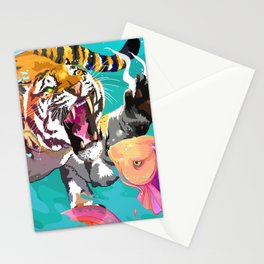 Hunting tiger Stationery Cards