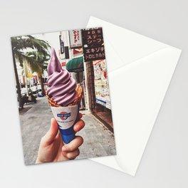 Purple ice-cream Stationery Cards