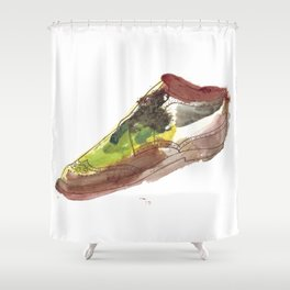 Watercolor Wingtip #1 Shower Curtain