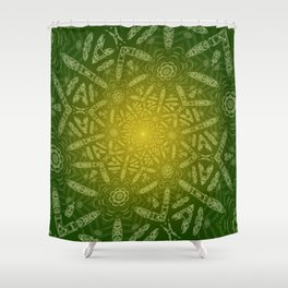 Funky Twisting 2 Shower Curtain