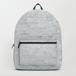 White Washed Brick Wall Stone Cladding Backpack