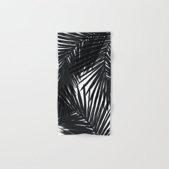 Palms Black Hand & Bath Towel